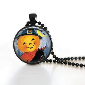 Halloween Pumpkin Necklace Pumpkin Pendant Pumpkin Halloween Party Jewelry Halloween Jewelry Happy Halloween Party Jewelry Holiday Necklaces
