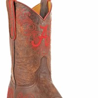 Gameday U Of Alabama Ladies Leather Boots - Brass