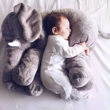 New Infant Soft Appease Elephant Playmate Calm Doll Baby Toys Elephant Pillow Plush Animal Toys Stuffed Doll Girl Friend Gift