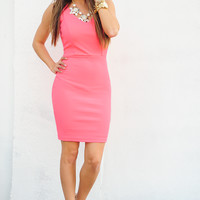 Good Day Sunshine Dress: Neon Pink | Hope's