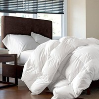 LUXURIOUS FULL / QUEEN Size Siberian GOOSE DOWN Comforter, 1200 Thread Count 100% Egyptian Cotton 750FP, 60oz, 1200TC, White Solid