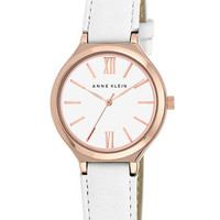Anne Klein Ladies Rose Gold Tone and White Watch