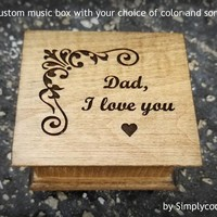 dad music box, custom music box, for dad, Father of Bride gift, personalized music box, Father's day gift, Dad I love you, cool gifts