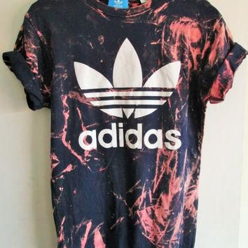 Vintage acid wash tie dye adidas originals retro rave festival unique urban grunge Ibi