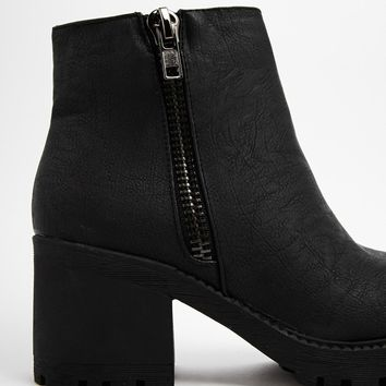New Look Champ Grunge Sole Ankle Boots