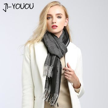 scarves women high poncho winter scarf plaid pashmina ladies scarves twill silk scarf poncho and capes wool blanket oversized