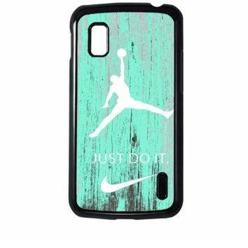 CREYUG7 Nike Jordan Mint Wood LG Nexus 4 Case