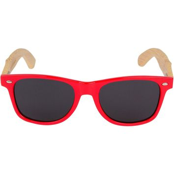 Red Hybrid Bamboo Wood Sunglasses