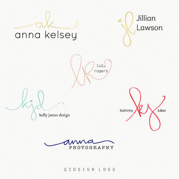 Custom Handwritten Logo - Custom Logo - Handwritten initial- Photography Watermark