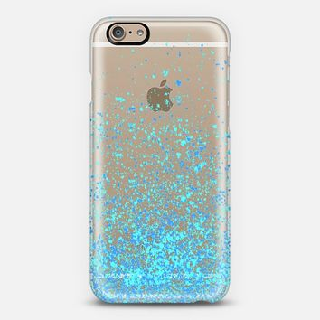 blue sparkles iPhone 6 case by Marianna | Casetify