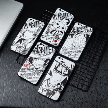 Naruto Sasauke ninja Luxury Soft TPU Silicon Phone Case For iPhone X 10 8 Plus New Super Anime Cartoon  Pattern Cover For iPhone 6 6S 7 Plus AT_81_8