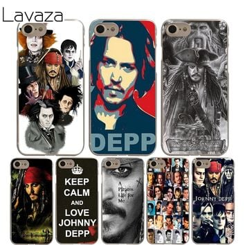 Lavaza johnny depp Cover Case for iPhone X 10 8 7 6 6S plus Cases for Apple 5 5S 5C SE 4 4S Coque Shell