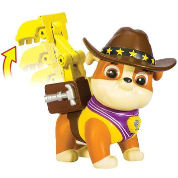 Genuine Paw Patrol -- Puppy Patrol Hero Pup, Cowboy Rubble --Action Pack Pup --patrulla canina Toy Original box kids toy