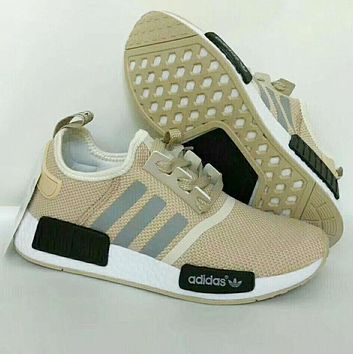 """Adidas"" NMD Fashion Casual Women Men Trending Sneakers Running Sports Shoes khaki G-CSXY"