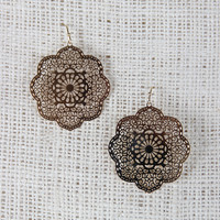 Delicate Dangle Mandala Earrings