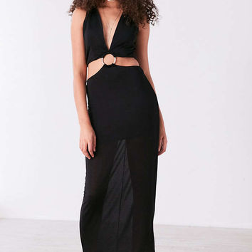 Finders Keepers Maxwell Plunging Cutout Maxi Dress - Urban Outfitters