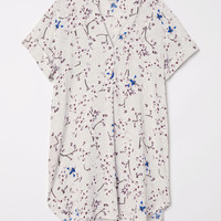 V-neck dress - Light grey/Floral - Ladies | H&M GB