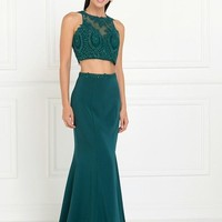 Jersey Two-Piece Long Dress