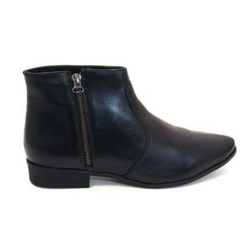 VONES2C Chelsea Crew Jupiter - Black Short Side-Zip Flat Boot