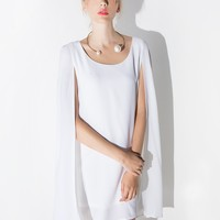 Lavish Alice White Floaty Cape Dress
