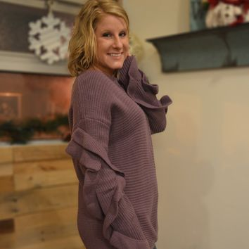 Lilac Ruffled Sweater