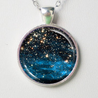 Cosmic Necklace -Stars Clusters NGC 1850- Galaxy Series