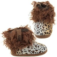 Cowboy Kickers Wooly Cheetah Slippers for Infants, Toddlers, and Girls Toddler/6-9