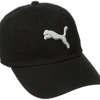 PUMA Men's Icon Adjustable Relaxed Fit Cap, Black, One Size