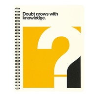Quote Stone Paper Notebook: Doubt - A+R Store
