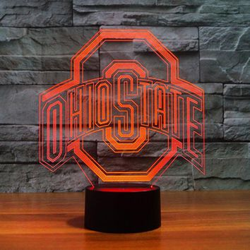Ohio State Buckeyes Fan Decor Optical Logo Lamp