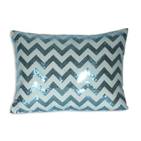 Chevron Sequin Pillow