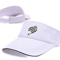 DEBANG Fairy Tail Anime Visor Cap Embroidery Adjustable Sun Hat Sports Visors