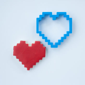 Pixel Heart Cookie Cutter