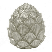 """8"""" Pinecone Objet, Silver, Faux-Fruits & Vegetables"""