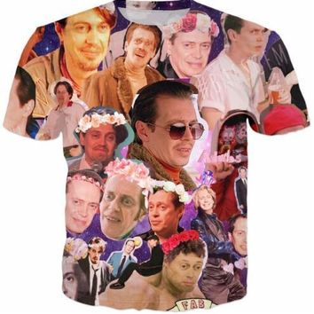 New Arrive Casaul Short Sleeve Shirt Steve Buscemi Galaxy Collage T-Shirt Wreath Women 3D Printed Outfits Style Tees