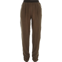 River Island Womens Khaki green lightweight joggers