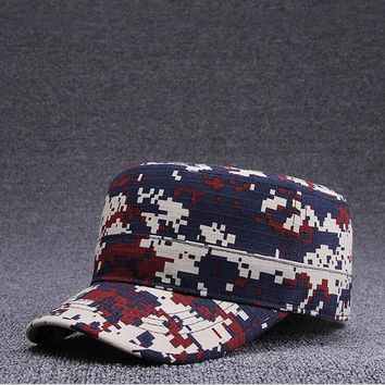 Men Flat Cap Camouflage Military Hats women Hats Cotton Snapback Flat Cap Army Cadet Hat Women Gorros dad soldier cap