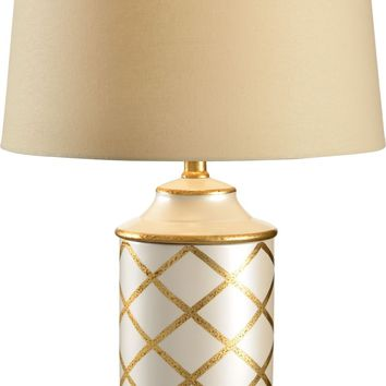 Cylinder With Diamonds Lamp