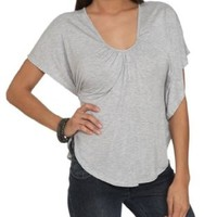 Wet Seal Women's Circle Cut Lace Top
