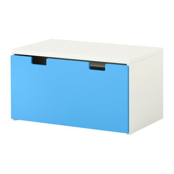 STUVA Storage bench - white/blue  - IKEA