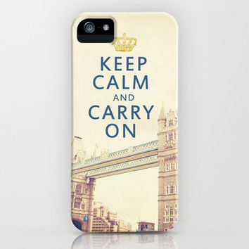 Keep Calm London iPhone Case by Happeemonkee | Society6