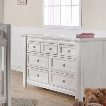 Cristallo Double Dresser in Vintage White