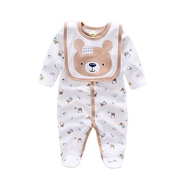 Baby Rompers animal infant Boy rompers Jumpsuit+bib babies baby wear Baby girl Rompers Newborn Clothes