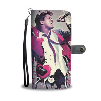 KUYOU Bruno Mars Singing Music For You Wallet Phone Case