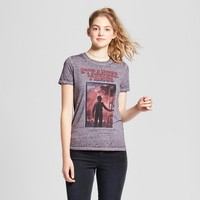Women's Stranger Things® Short Sleeve Logo Graphic T-Shirt (Juniors') - Dark Gray