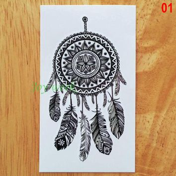 ac NOOW2 Waterproof Temporary Tattoo sticker lace mandala dreamcatcher dream catcher tattoo Water Transfer fake tattoo flash tattoo