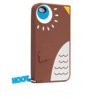 Hoot - Silicone iPhone 4 / 4S Case - Sold by CASE-MATE Brown