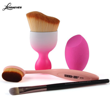 Cosmetic Foundation Cream Powder Blush Eyeshadow Makeup Brush Makeup Sponge Oval Brush Makeup Tool 4pcs/Set M03120
