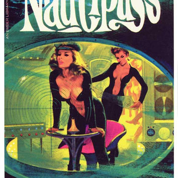 Nautipuss 11x17 Retro Book Cover Poster