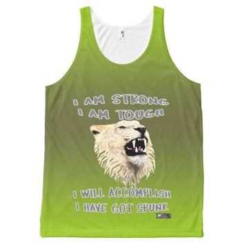 Spunk Quote by Kat Worth All-Over-Print Tank Top